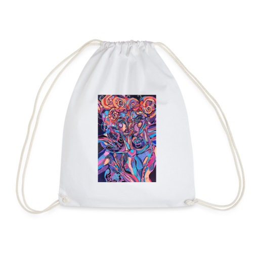 Evil Art Abstract - Drawstring Bag