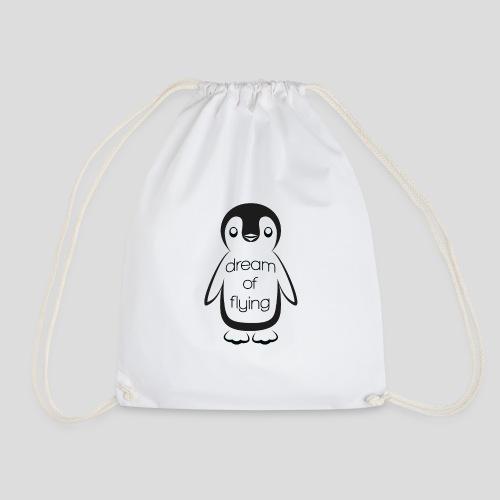 Dream of Flying Pinguin - Drawstring Bag