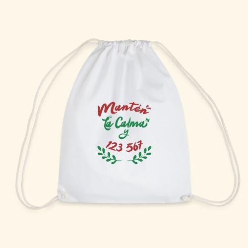Ugly Christmas T-Shirt - Keep Calm and dance Salsa - Drawstring Bag