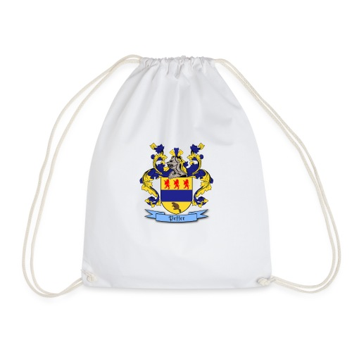 Peffer Family Crest - Drawstring Bag