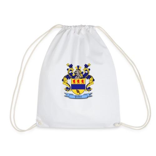 Peffer Family Crest - Drawstring Bag