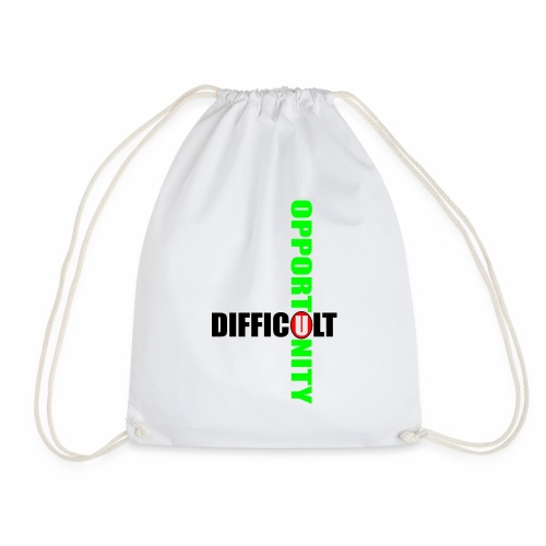 Difficult Opportunity - Drawstring Bag