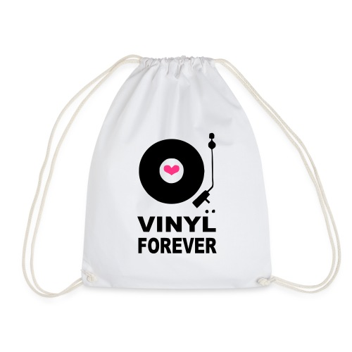 Vinyl Forever T-shirt - Drawstring Bag