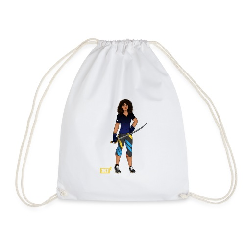Sabre fencer - Drawstring Bag