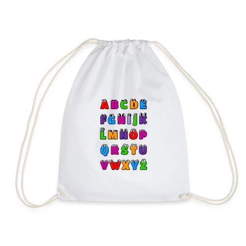 Letras del alfabeto Kawaii ABC para niños. Dibujos - Mochila saco