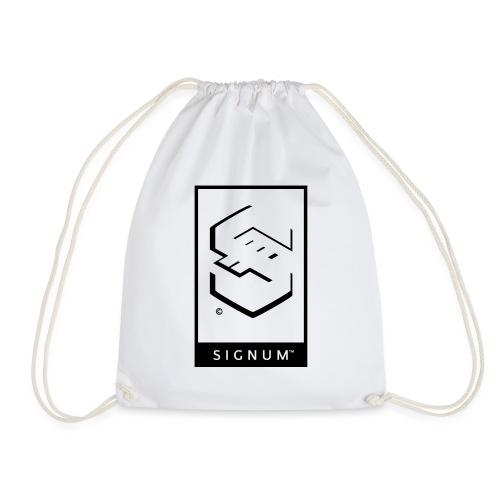 signumGamerLabelBW - Drawstring Bag