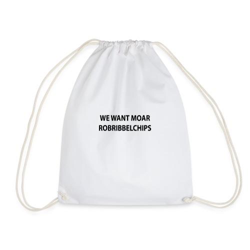 We want Moar RobRibbelchips T-Shirt (Female) - Drawstring Bag