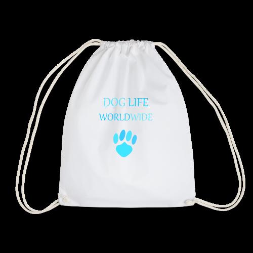 Blue Paw Print - Drawstring Bag
