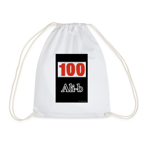 Limited edition Ali-b 100 subscribes merchandise - Drawstring Bag