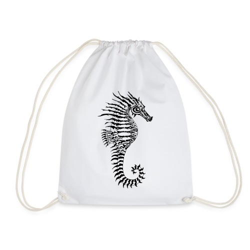 Alien Seahorse Invasion - Drawstring Bag