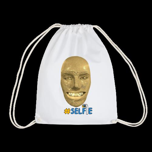 Gold Gesicht mit Zahndiamant - Turnbeutel