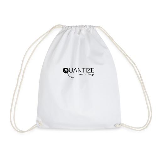 Quantize Black Logo - Drawstring Bag
