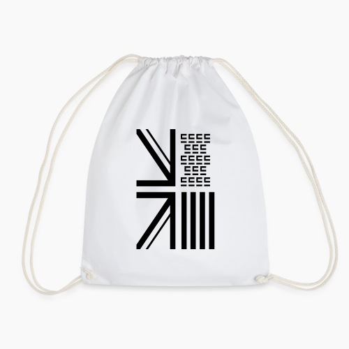 Entra© Flag White - Drawstring Bag