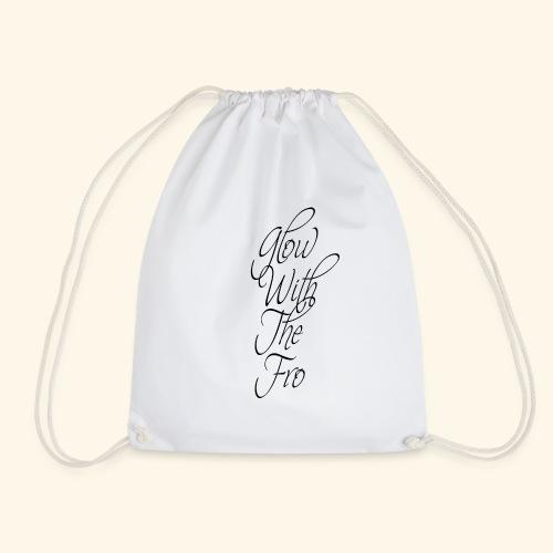 GlowWithTheFro Black - Drawstring Bag