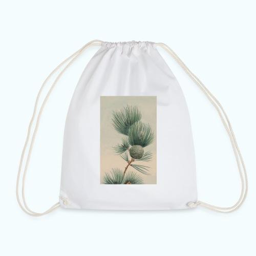Wilde Pinie Aquarell - Drawstring Bag