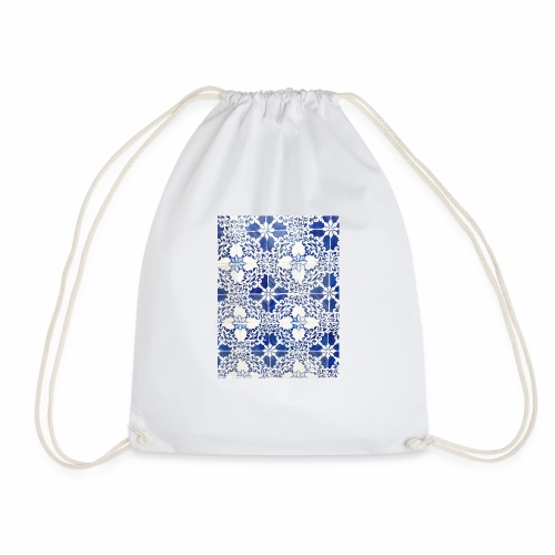 Portuguese tile design 1 - Drawstring Bag