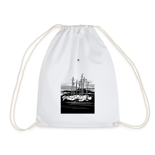 Revenge Capitalism (on white) - Drawstring Bag