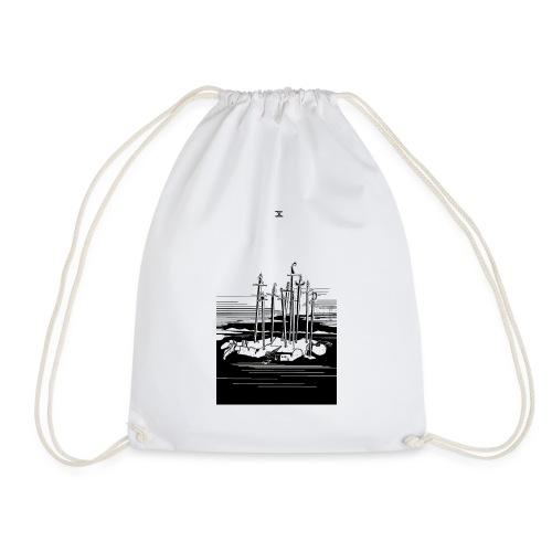 Revenge Capitalism (on white) - Drawstring Bag