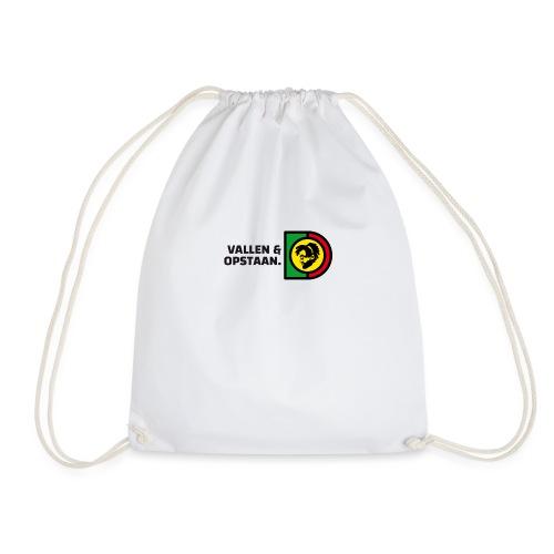 Vallen en opstaan. - Drawstring Bag