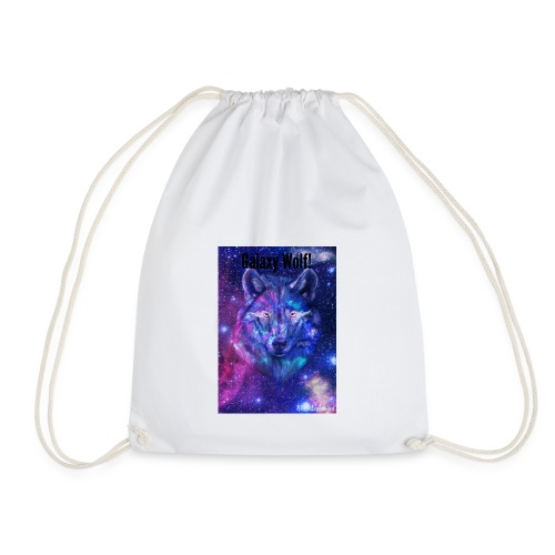 Galaxy wolf t-shirt - Drawstring Bag