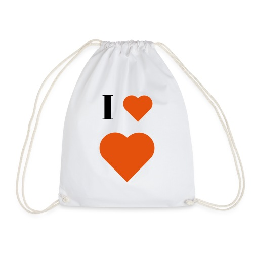I Heart heart - Drawstring Bag