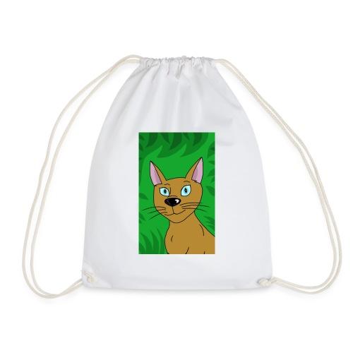 Wild pretty cartoon cat - Drawstring Bag