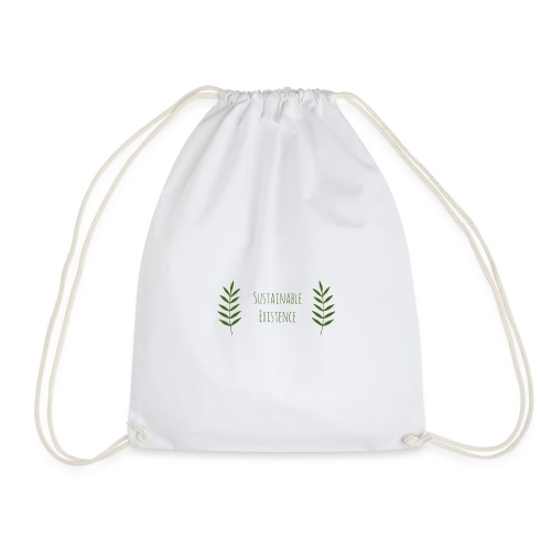 Sustainable Existence Logo (Green) - Drawstring Bag