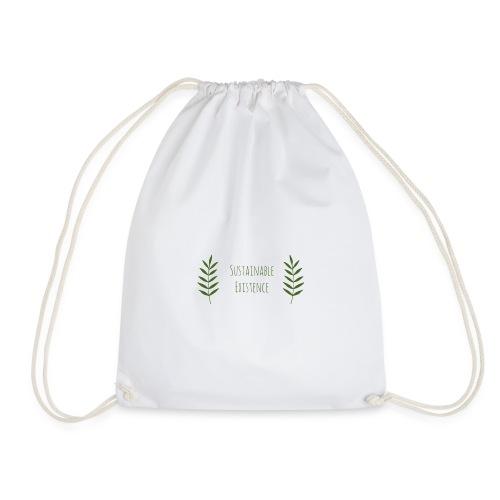 Sustainable Existence Logo (Green) - Drawstring Bag