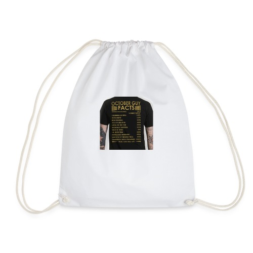 october gyu facts - Drawstring Bag