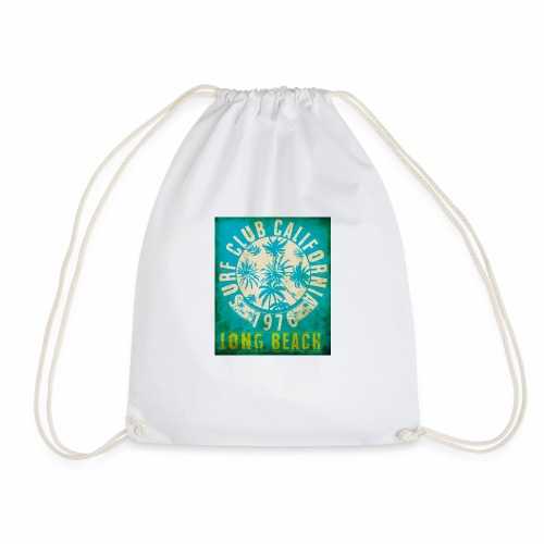 Long Beach Surf Club California 1976 Gift Idea - Drawstring Bag