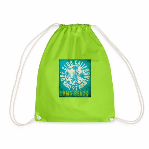 Long Beach Surf Club California 1976 Gift Idea - Drawstring Bag