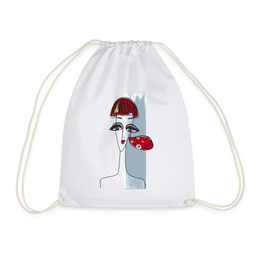 Girl with earring - Drawstring Bag