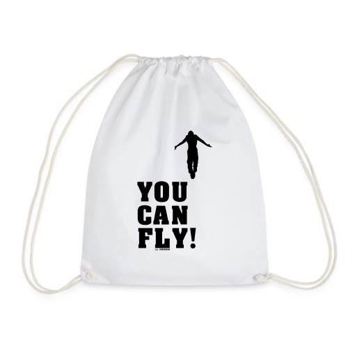 you can fly high BLACK - Mochila saco