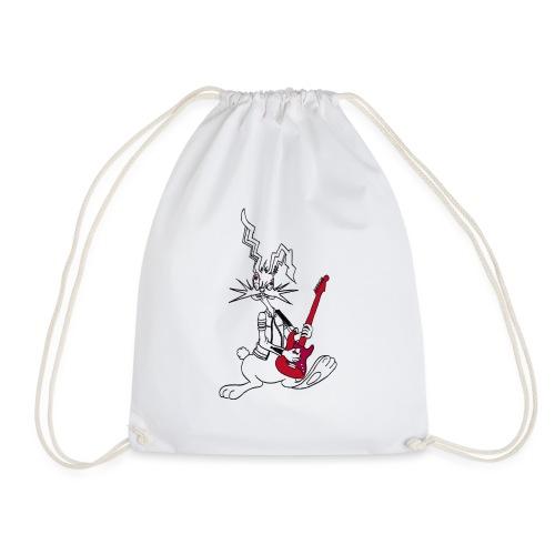 Gitarrenrocker hase kaninchen häschen bunny - Turnbeutel