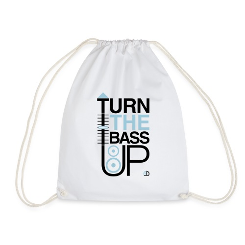 TURN THE BASS UP - Speaker and Music - Drawstring Bag