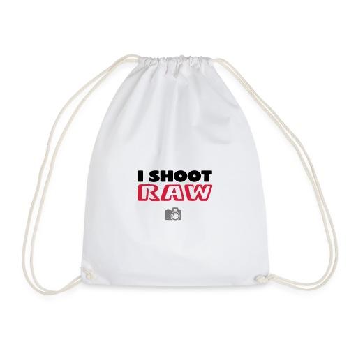 I Shoot Raw - Drawstring Bag