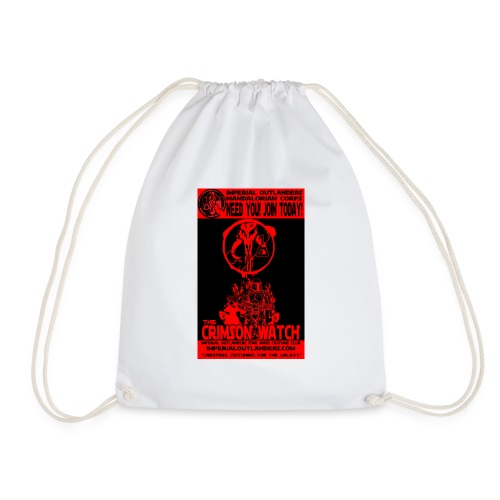 Crimson recruit tee - Drawstring Bag