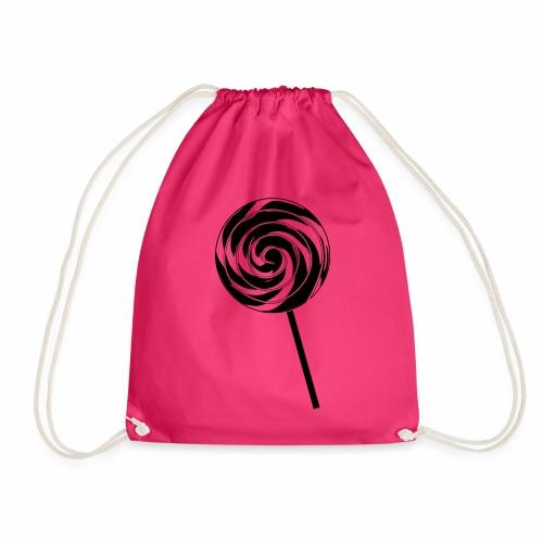 Retro Lutscher - Lollipop Design - Schwarz Weiß - Turnbeutel