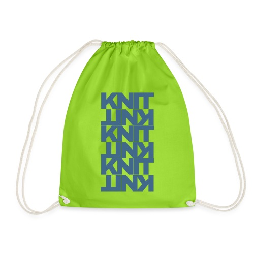 Garter Stitch, dark - Drawstring Bag