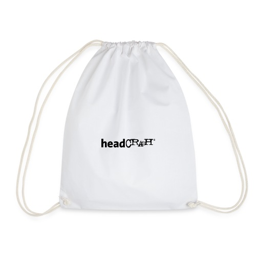 headCRASH Logo black - Turnbeutel