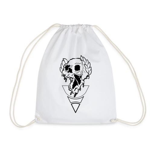 crownded skull - Drawstring Bag