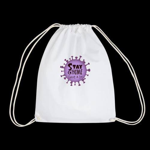 stay at home 3 - Drawstring Bag