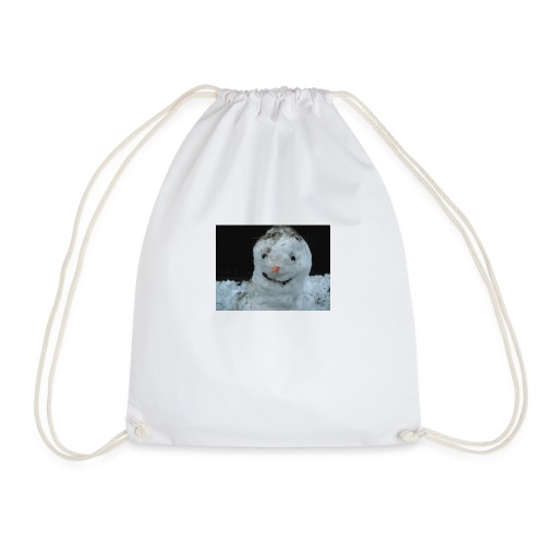 Snow Man - Drawstring Bag