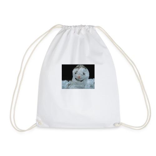 Snow Man - Drawstring Bag