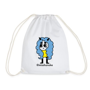 hana-chan ✻ blue yellow black - Drawstring Bag