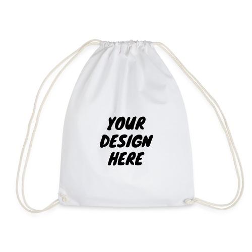 print file front 9 - Drawstring Bag