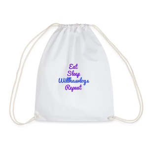 Eat Sleep Willhasvlogs Repeat - Drawstring Bag