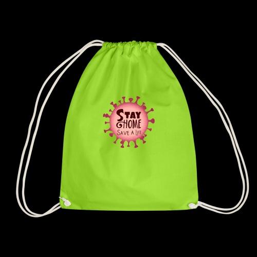 stay at home 5 - Drawstring Bag