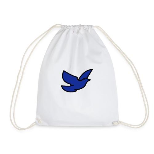 blue bird - Drawstring Bag