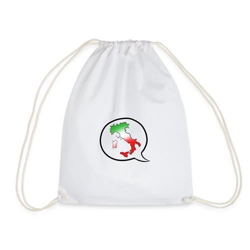 Italia T-Shirt Herren: Stiefel im Fokus - Turnbeutel